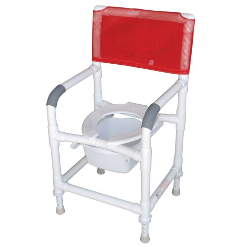 Standard Deluxe Shower Chair with Slide Out Commode Pail