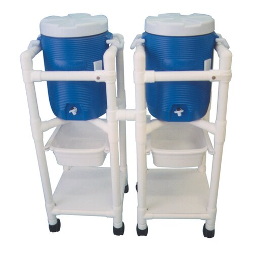 "MJM International 47"" Hydration Cart with 5 Gallon Water Cooler"
