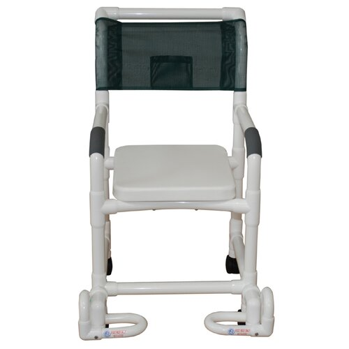 Standard Deluxe Shower Chair with Soft Seat and Footrest