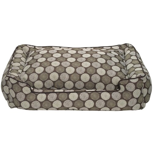 Medallion Lounge Bolster Dog Bed