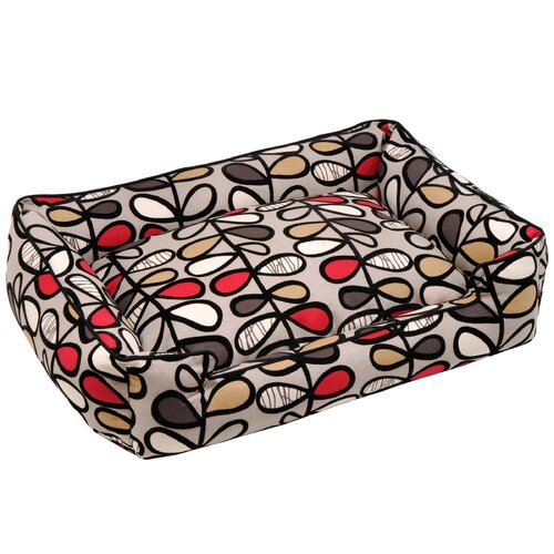 Vines Lounge Bolster Dog Bed