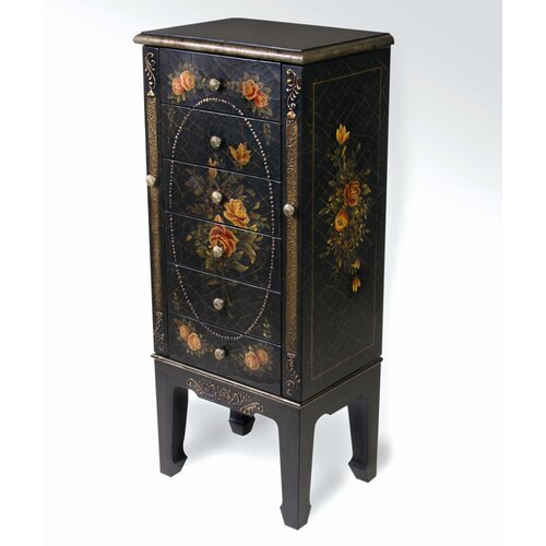 6 Drawer Jewelry Armoire with Mirror