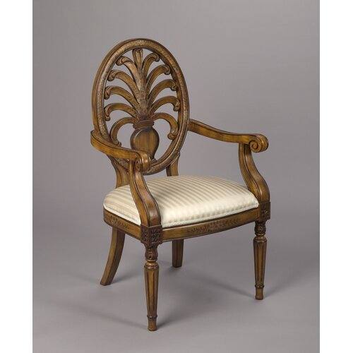 AA Importing Oval Back Arm Chair
