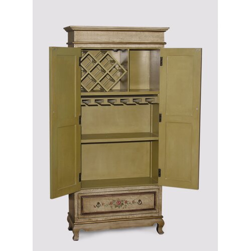 AA Importing 6 Bottle Wine Cabinet