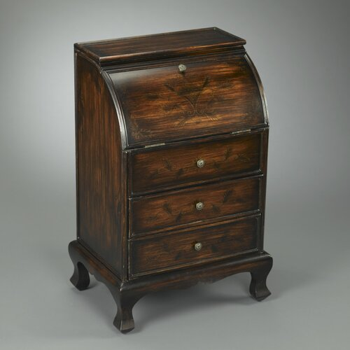 2 Drawer Round Top Wooden Cabinet