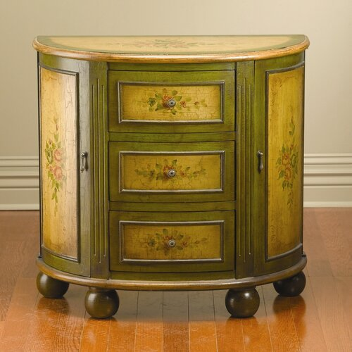 AA Importing 3 Drawer 2 Side Door Console Cabinet