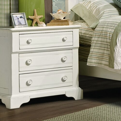 kathy ireland home by vaughan cottage grove 3 drawer nightstand