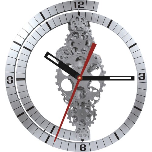 "Maples Clock Oversized 24"" Moving Gear Wall Clock"