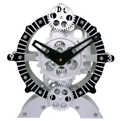 "Maples Clock 8.7"" Moving Gear Desktop Clock"
