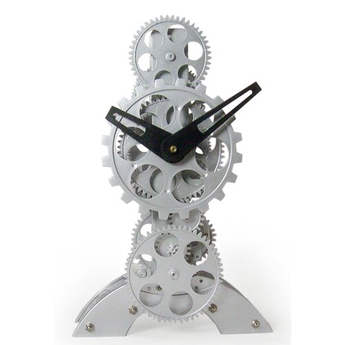 Moving Gear Desktop Clock