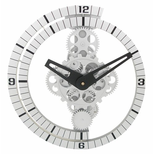 "Maples Clock 13"" Moving Gear Wall Clock"