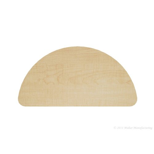 "Mahar 48"" x 23.75"" Half Round Classroom Table"