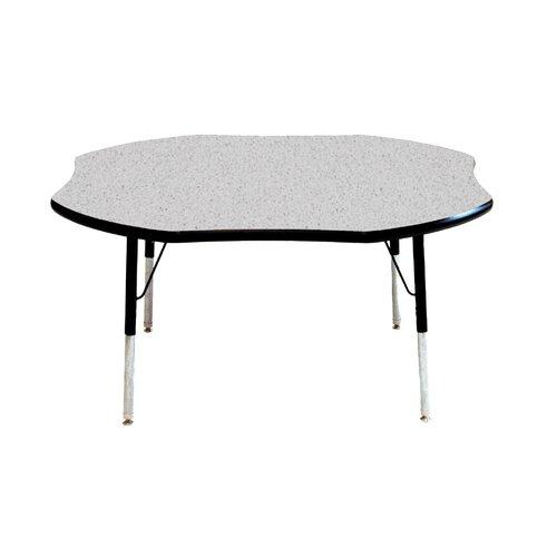 "Mahar 48"" x 48"" Shamrock Classroom Table"