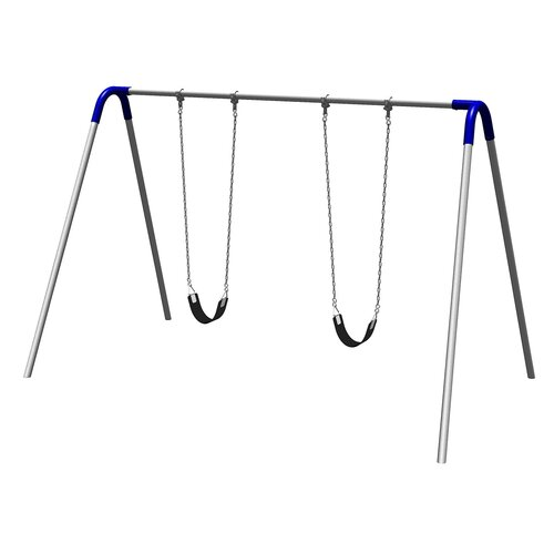 Ultra Play UPlay Today Single Bay Swing Set with Commercial Strap Seats