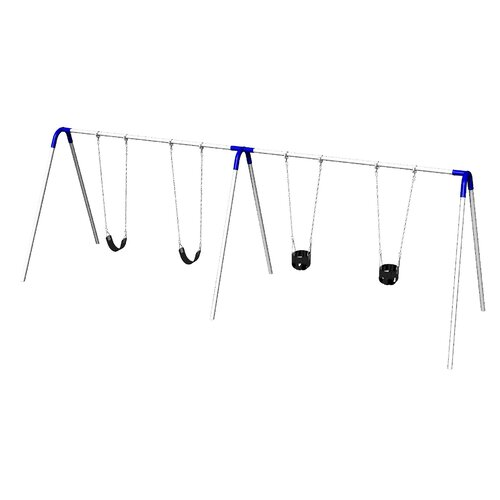 Ultra Play UPlay Today Double Bay Swing Set with Two Commercial Strap Seats and Two Tot Seats