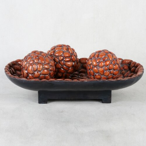 Privilege Decorative Bowl and Sphere Set