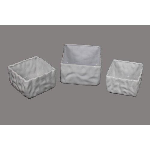 3 Piece Square Ceramic Bowl Set