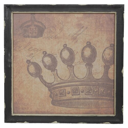 Vintage Crown Framed Graphic Art