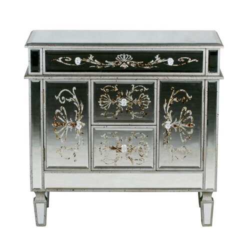 Privilege 3 Drawer 2 Door Mirrored Chest