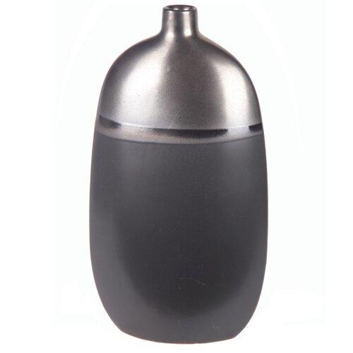 Metallic Drip Ceramic Vase