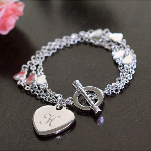 Cathys Concepts Triple Strand Heart Bracelet