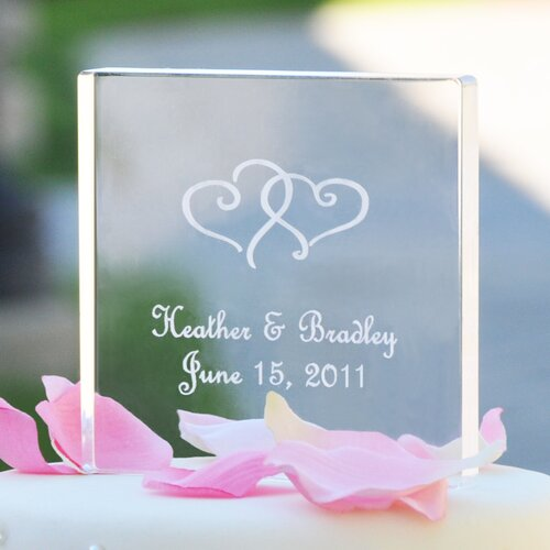 Cathys Concepts Personalized Acrylic Square Cake Topper