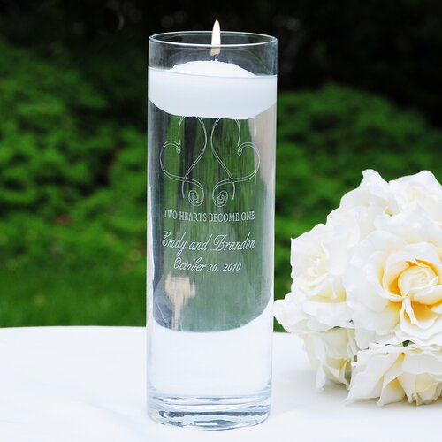 Cathys Concepts Whimsical Hearts Floating Unity Candle