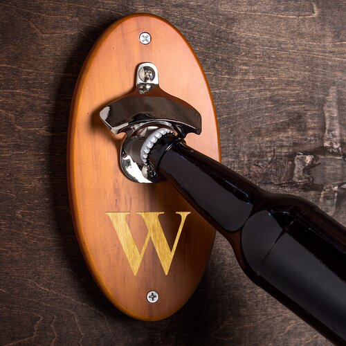 Cathys Concepts Amber Custom Wall Mounted Bottle Opener