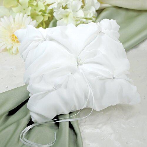 Elegant Chiffon Ring Pillow