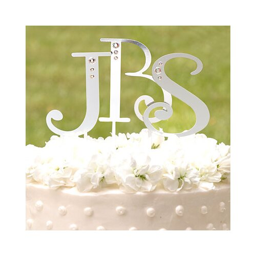 Cathys Concepts Rhinestone Heart Cake Topper