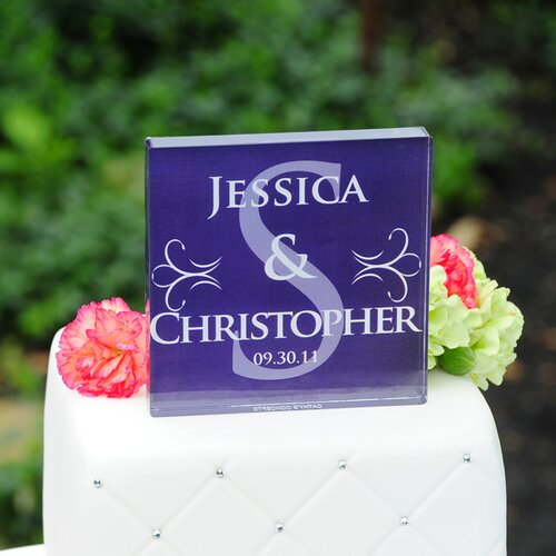 Cathys Concepts Monogram Wedding Cake Topper