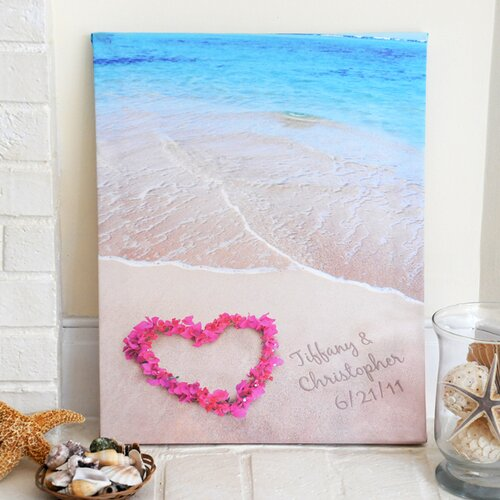 Ocean Waves of Love Photographic Print on Canvas