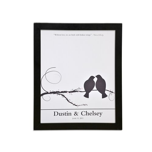 Cathys Concepts Lovebirds Canvas Signature Guest Book