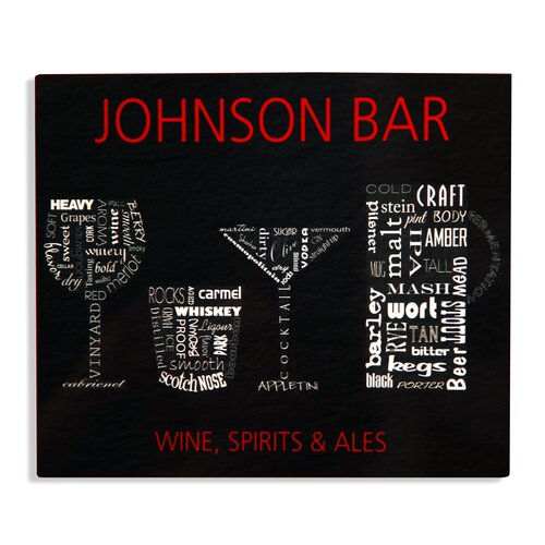 Wine, Sprits and Ale Bar Sign Graphic Art Plaque