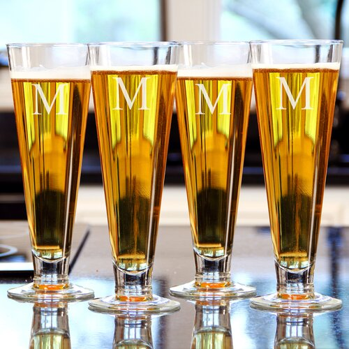 Cathys Concepts Personalized Classic Pilsner Glass (Set of 4)