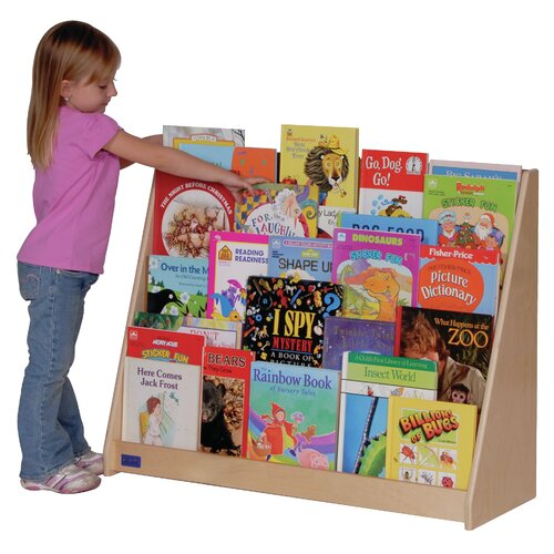 "Steffy Wood Products Five Shelf 28"" Book Display"