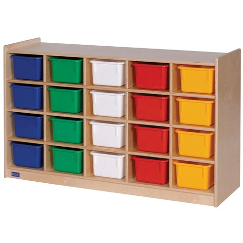 Steffy Wood Products Mobile 20 Compartment Cubby