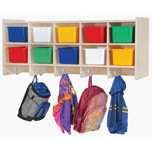 Steffy Wood Products Double Wall Locker Unit