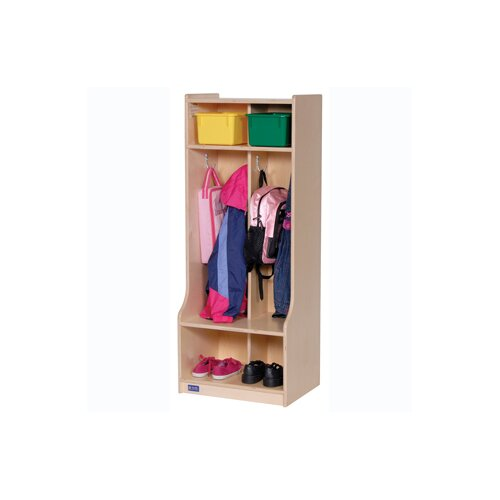 Steffy Wood Products 2-Section Seat tep Locker