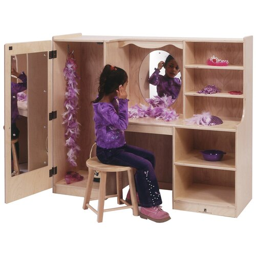 Steffy Wood Products Vanity Closet with Mirror