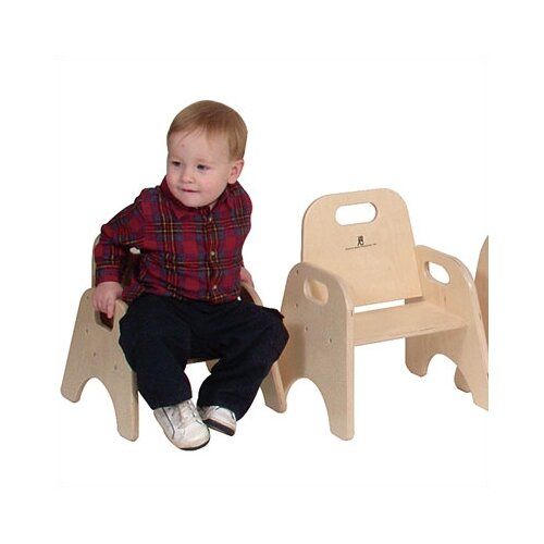 "Steffy Wood Products 11"" Wood Classroom Toddler Stackable Chair"