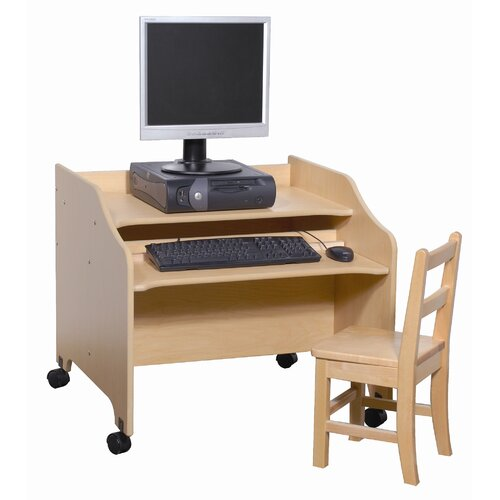 Steffy Wood Products Kids Computer Table