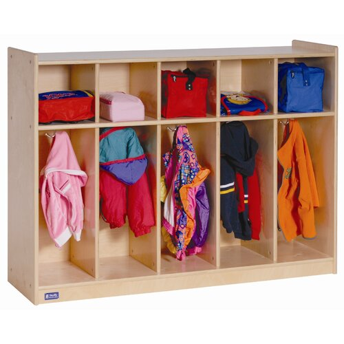 Steffy Wood Products 5-Section Toddler Locker
