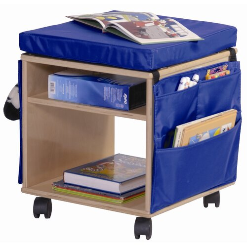 Steffy Wood Products Mobile Classroom Stool and Storage