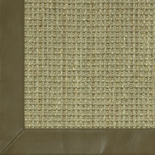 Fibreworks Botanical Blends Spring Twine Textured Leather Bordered Rug