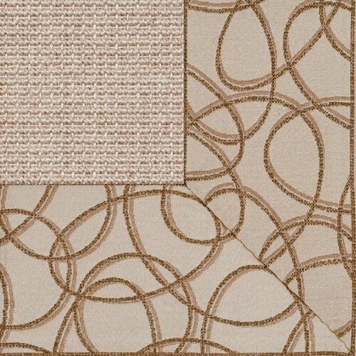 Fibreworks Paradise Retreat Jumbo Boucle Ginger Kaleidoscope Bordered Rug