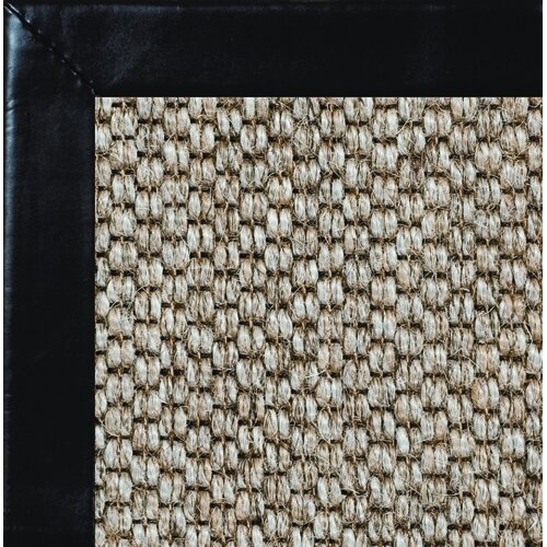 Fibreworks Siskiyou Smooth Leather Bordered Rug