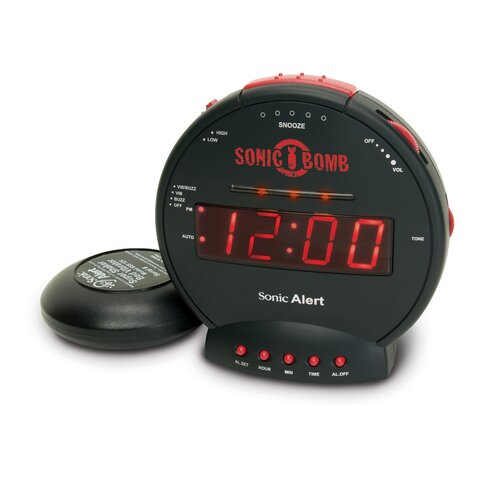 Sonic Alert Sonic Bomb Alarm Clock with Flashing Lights