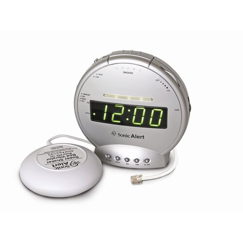 Sonic Alert Sonic Boom Vibrating Alarm Clock with Telephone Signaler