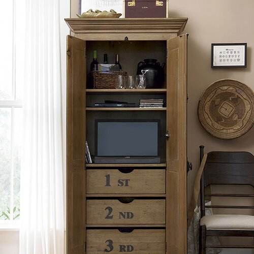 Paula Deen Home Down Home Utility Cabinet in Distressed Oatmeal Finish